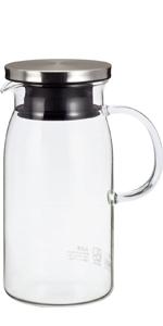 麦茶ポット 麦茶入れ お茶ポット 耐熱ガラス
