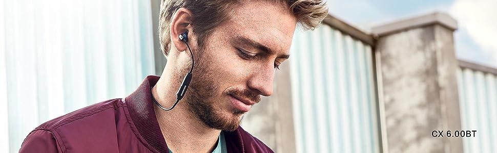 Sennheiser CX 6.00BT In Ear Wireless Headphones BlueBlack