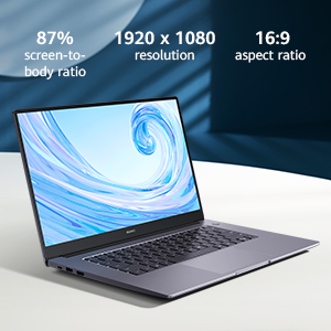 Get lost in 15.6 inches of beautiful IPS FullView screen. Featuring an 87% screen-to-body ratio