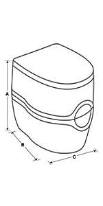 Amazon.com: Porta Potti Curve Portable Toilet for RV