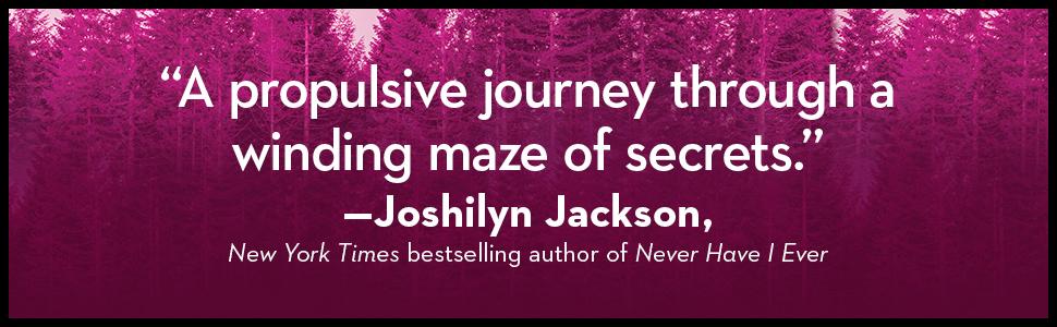 """A propuslive journey through a winding maze of secrets."" -- NYT bestselling author Joshilyn Jackson"