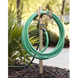 693 Free Standing Garden Hose Stand With Brass Faucet, Hold 150 Ft 5/8 Inch  Hose