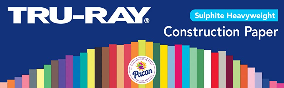 construction paper, tru-ray, pacon, assorted colors, teachers, kids, school, art projects, crafts