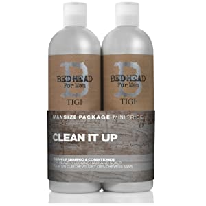 tigi bed head bedhead clean up mens shampoo and conditioner set pack daily refresh cleanse hair