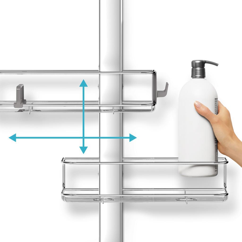 simplehuman adjustable shower caddy instructions