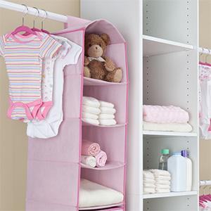 delta children hanging storage organizer nursery baby closet