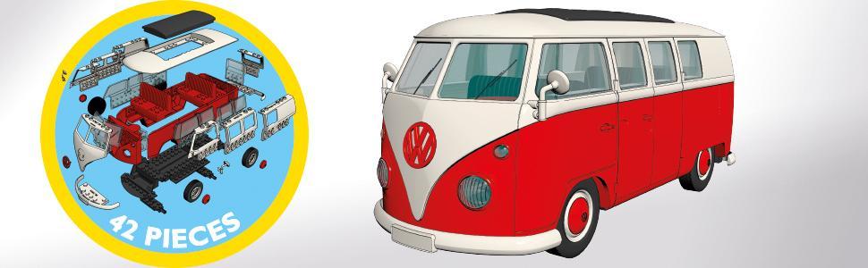 Airfix J6017 Volkswagen VW Camper Classic Van Quick-Build Kit
