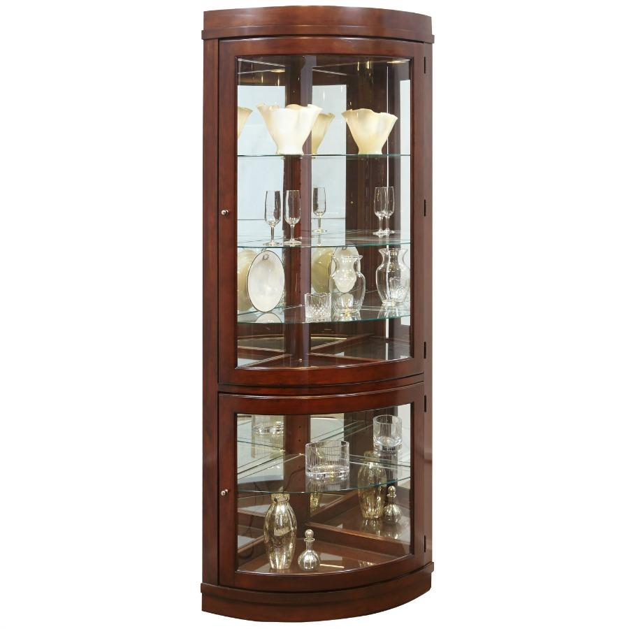 Amazon.com: Pulaski Corner Curio, 34 by 23 by 78-Inch, Dark Brown ...