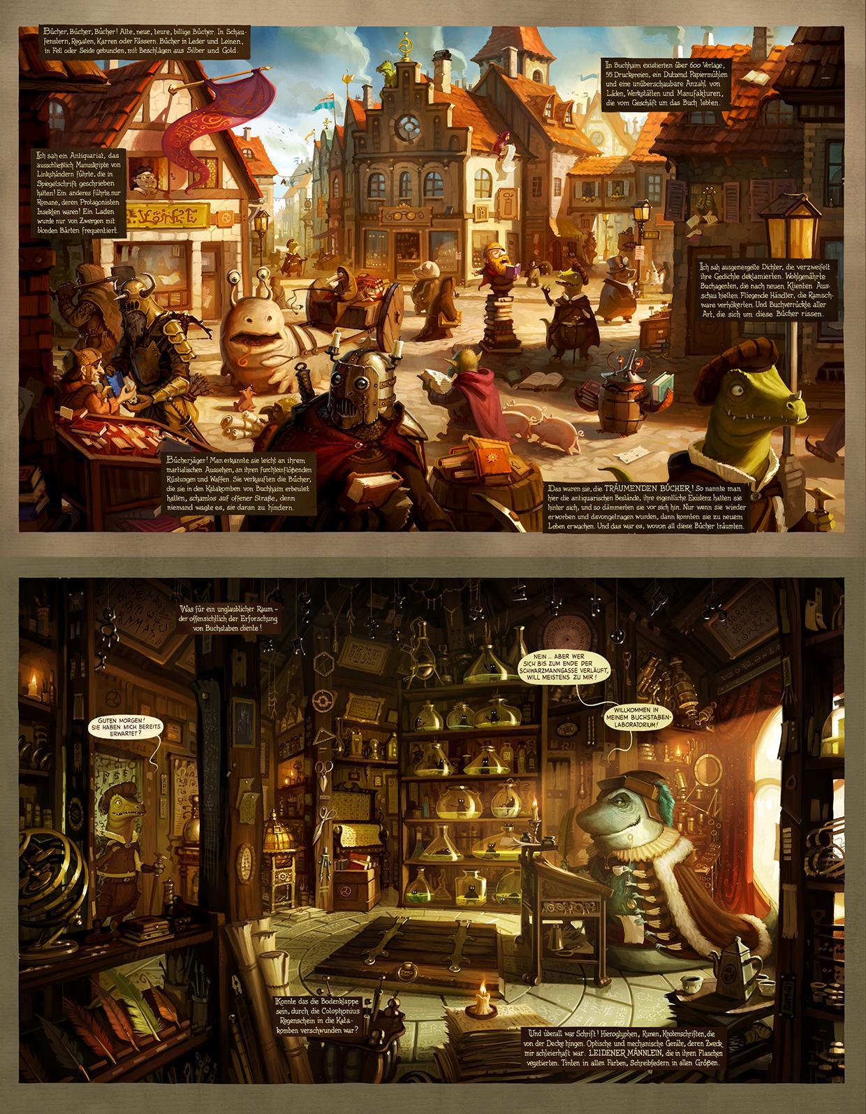 Die Stadt der Träumenden Bücher Comic : Band 1: Buchhaim: Amazon.de ...