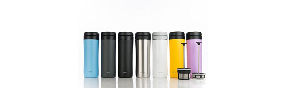 Espro Travel PressStainless White Coffee Steel12 Ozbright 80ynNmwOv