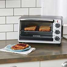 BLACK+DECKER TO1950SBD 6-Slice Convection Countertop Toaster Oven, Includes Bake Pan, Broil Rack & Toasting Rack, Stainless Steel/Black Convection ...