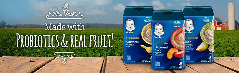 Made with probiotics and real fruit!