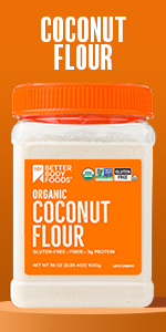 Organic Coconut Flour BetterBody Foods Keto Paleo