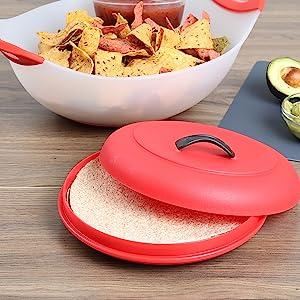 Black Dexas Microwaveable X-Large Tortilla Warmer Steamer