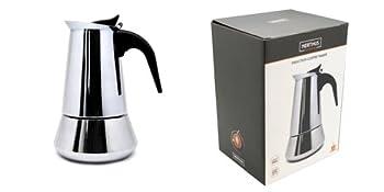 Nerthus FIH 248 - Cafetera de inducción 4 tazas, color plata, ideal para los amantes del café