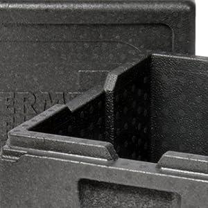 Thermobox de EPP polipropileno expandierto negro Thermo Future Box GN 1//2 Nevera Box Transportbox Warmhaltebox y Isolierbox con tapa 19 litros