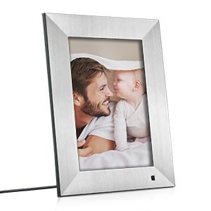 NIX Lux Digital Photo Frame 8 inch X08F, Wood. Electronic Photo Frame USB SD/SDHC. Digital Picture Frame with Motion Sensor. Control Remote and 8GB USB Stick Included 16