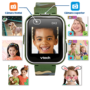 reloj niños kidizoom smart watch dx2 color camuflage reloj inteligente infantil con doble camara