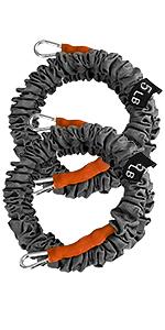 PGFUNNY Conjunto de Bandas de Resistencia Set al Ejercicio Kit con 5 Tubos de Ejercicios 2 Manijas 1 Anclaje de Puerta 1 Bolsa y 1 Gu/ía de Entrenamiento para Hombre Mujer 2 Correas de Tobillo