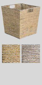 small storage, woven basket, woven storage basket, large decorative basket, organization and storage