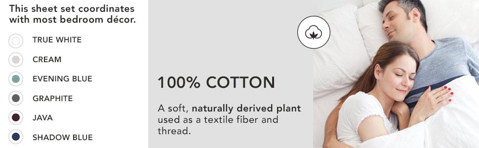 Amazon Com Modern Living T300 Solid Sheet Set Queen Cream 4 Piece Home Kitchen