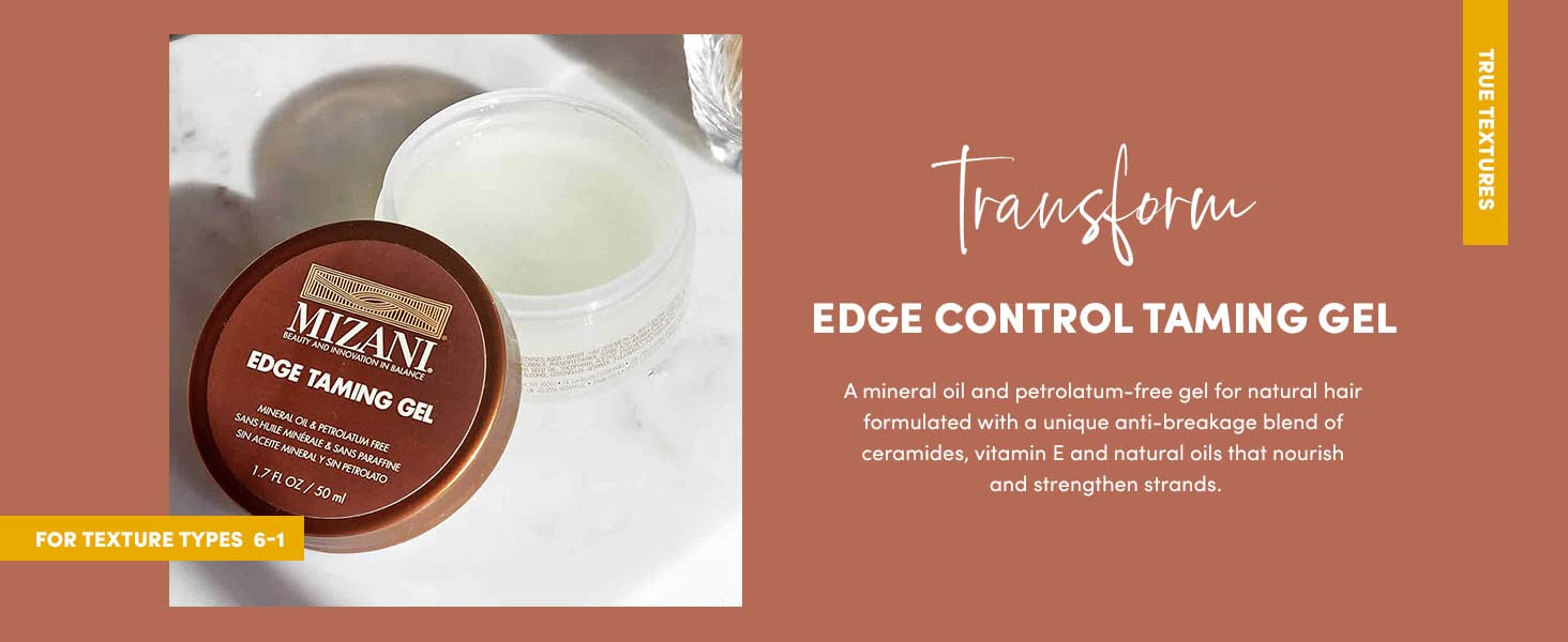 mizani edge taming gel controls curly hair