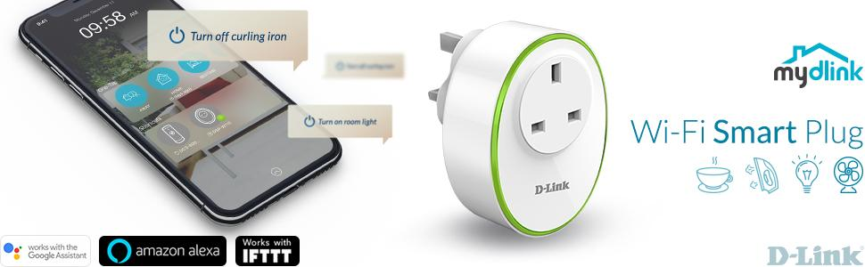 Wi-Fi Smart Plug connect home appliance control phone tablet free mydlink app