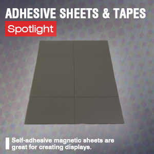 Adhesive backed flexible magnets