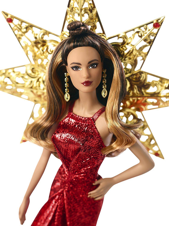 Amazon.com: Barbie 2017 Holiday Teresa Doll, Brunette ...