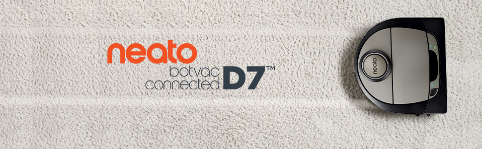 Neato D7 botvac connected for pet hair laser guided robot vacuum works with Alexa