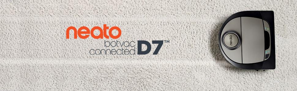 Neato D7 botvac pet saç lazer güdümlü robot vakum için Alexa ile bağlantılı