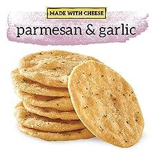 Good Thins Made with CheeseParmesan and garlic