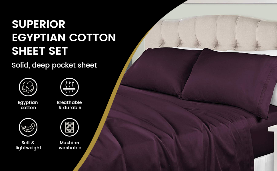 King/// Standard Size Top Sheet Gold Stripe LaxLinen 500 Thread Count 100/% Egyptian Cotton Super Quality 1PC Flat Sheet