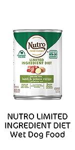 Nutro Limited Ingredient Diet Wet Dog Food, Soft Dog Food, Canned Dog Food, Cans, Protein