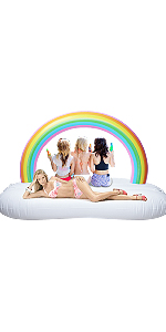 1NYGFP1GE LetsFunny Avocado Pool Float Inflatable Giant Floats with Rapid Valves Pool Party Beach Swimming Raft Floaty Lounger Decorations M