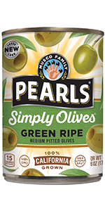 Simply Olives Green Ripe Pitted Olives