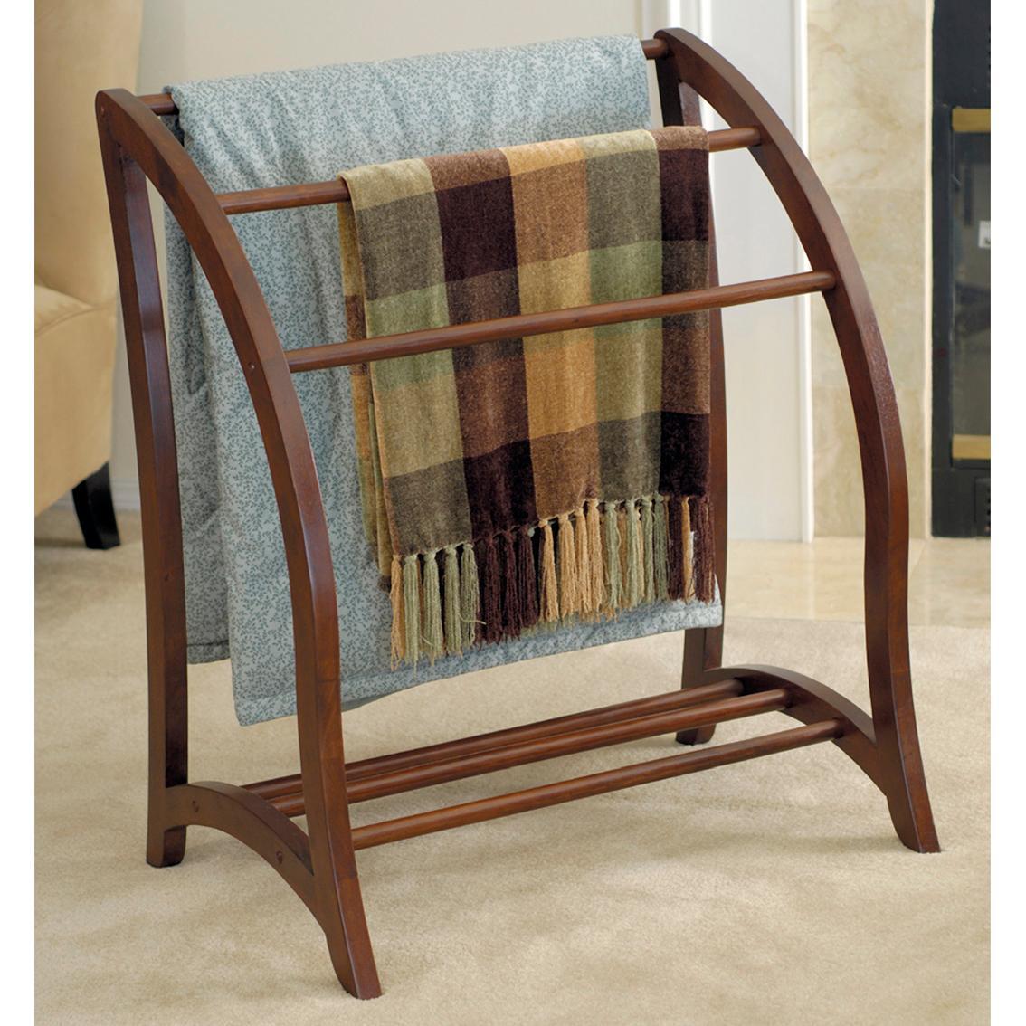 Winsome Wood Blanket Rack Antique Walnut