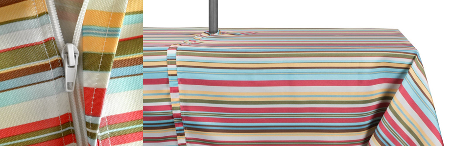tablecloths with zipper, farmers market tablecloth, anchor themed, nautical, summer tablecloth