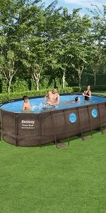 Bestway Piscina Desmontable Tubular Power Steel Oval 610x366x122 ...