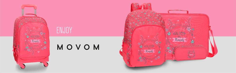 Movom mochilas rosa niña