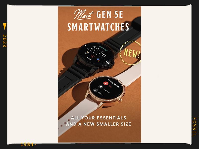 Fossil gen 5e, gen5, smart watch
