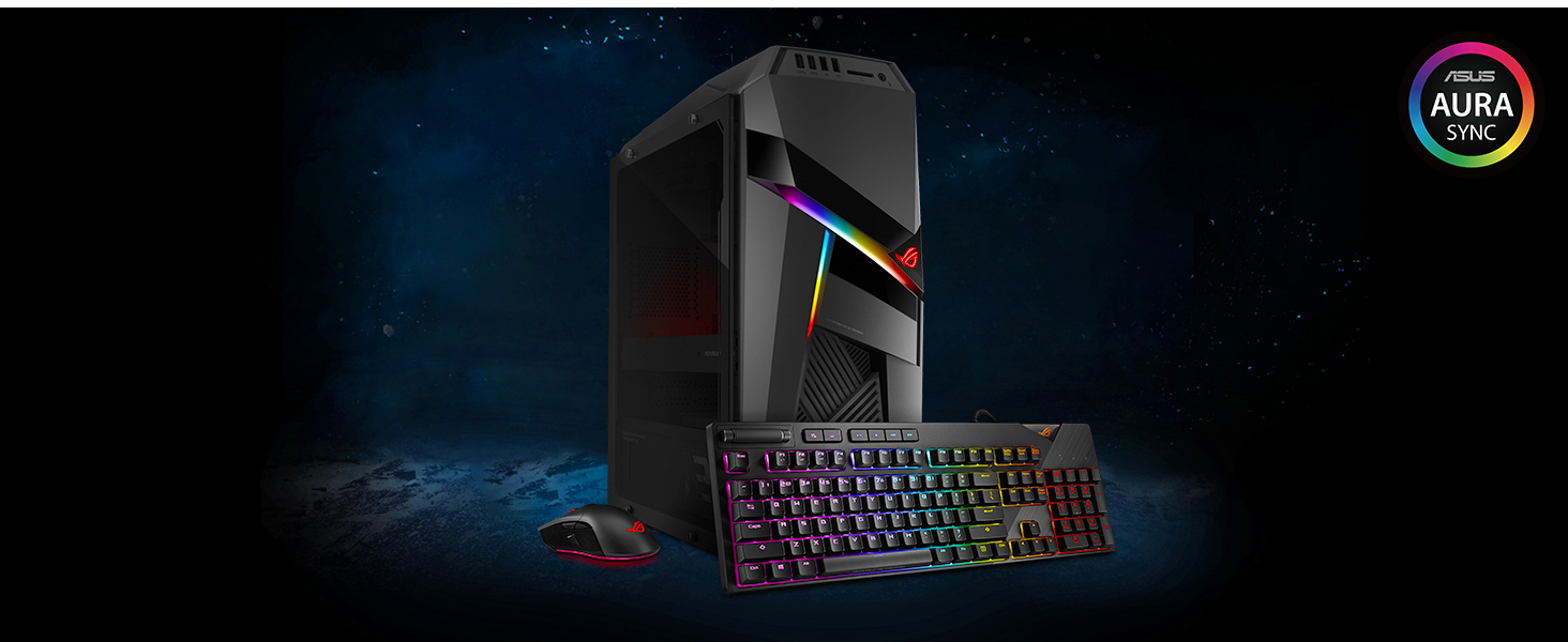 ASUS ROG Strix GL12 Gaming Desktop, Intel Core i7-8700 Processor, NVIDIA  GeForce GTX 1050, 8GB DDR4 RAM, 1TB HDD, Windows 10 Home - GL12CP-DS751