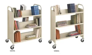 Amazon Safco Products 5357SA Steel Double Sided Book Cart 3