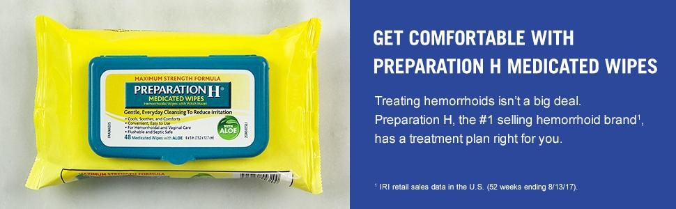 Get Comfortable with Preparation H Medicated Wipes