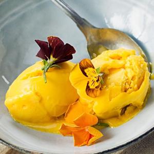 Sorbet à la mangue et au basilic