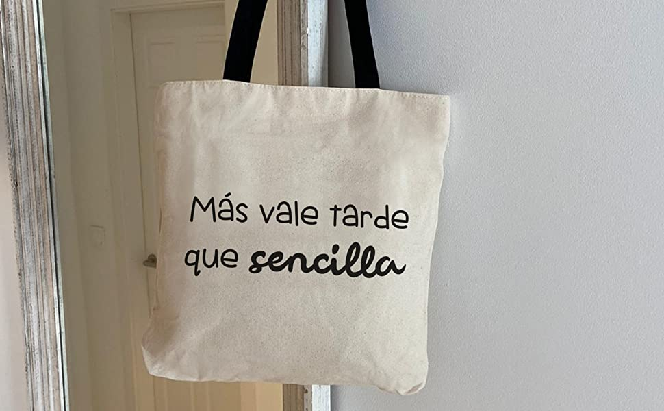 Hello-Bags, Bolso Tote, Algodón 100%, Blanco, con Cremallera, Forro y Bolsillo Interior, 37 x 38 cm + (asa: 28 cm): Amazon.es: Equipaje