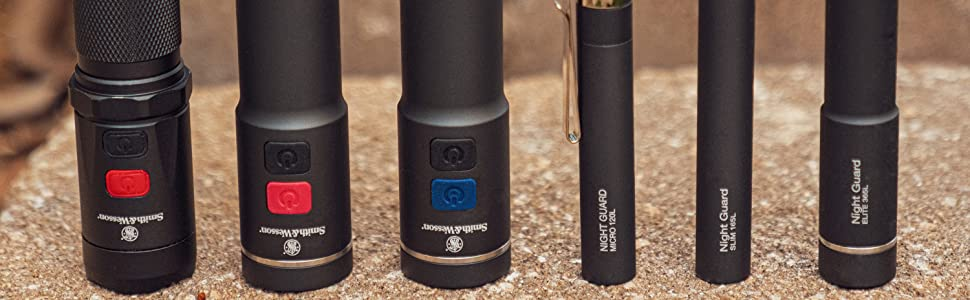 Smith /& Wesson Night Guard Elite LED Dual-Beam Flashlight 1097656