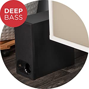 Easy to install compact wireless subwoofer