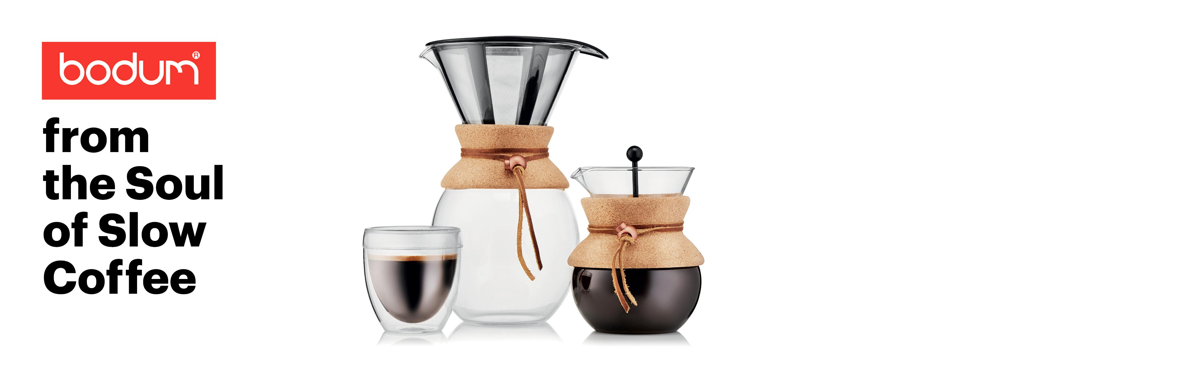 Amazon.com: Bodum 11571-294 Pour Over Coffee Maker with Permanent Filter, 34 oz, Red: Kitchen ...
