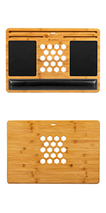 bamboard, mouse pad, wrist pad, wood, bamboo, laptop, lapdesk, lapgear, natural, media slot, tablet